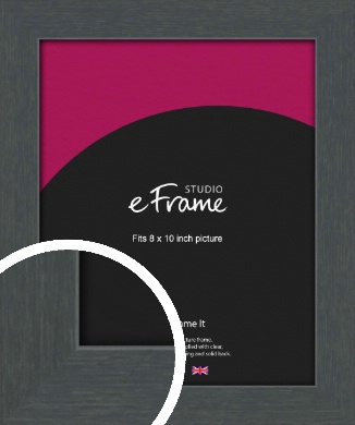 Slate Grey Picture Frame, 8x10