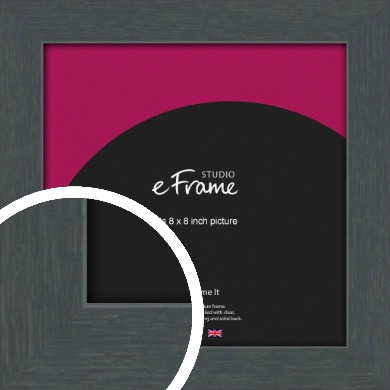 Slate Grey Picture Frame, 8x8
