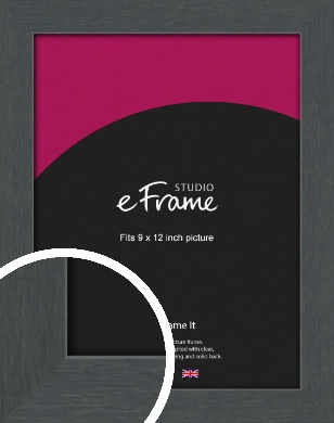 Slate Grey Picture Frame, 9x12