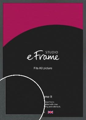 Slate Grey Picture Frame, A0 (841x1189mm) (VRMP-1026-A0)