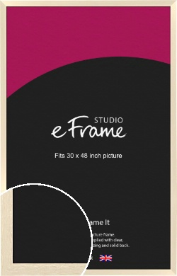 Light Ivory Cream Picture Frame, 30x48