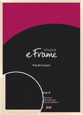 Light Ivory Cream Picture Frame, A0 (841x1189mm) (VRMP-714-A0)