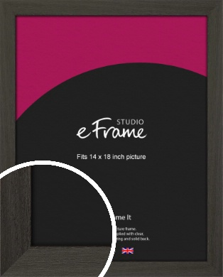 Washed Black Picture Frame, 14x18