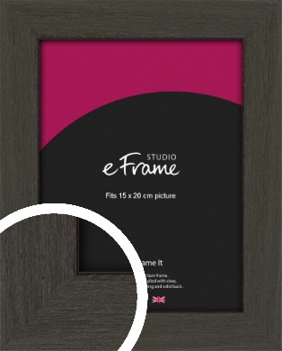 Washed Black Picture Frame, 15x20cm (6x8