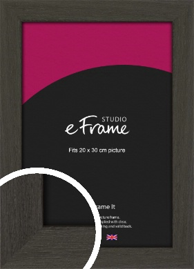 Washed Black Picture Frame, 20x30cm (8x12