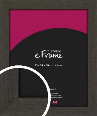 Washed Black Picture Frame, 24x30cm (VRMP-412-24x30cm)
