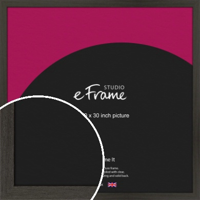 Washed Black Picture Frame, 30x30