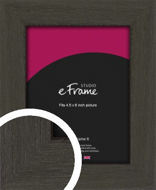 Washed Black Picture Frame, 4.5x6
