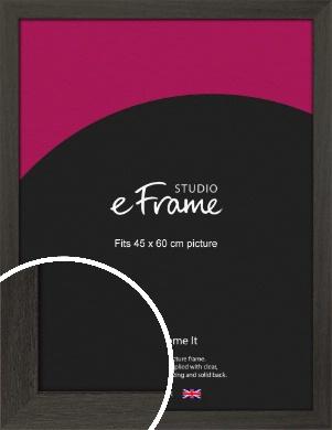 Washed Black Picture Frame, 45x60cm (VRMP-412-45x60cm)