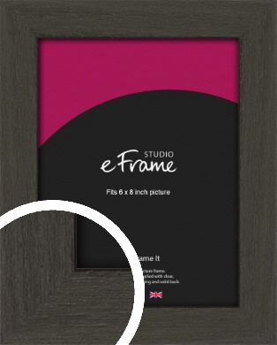 Washed Black Picture Frame, 6x8