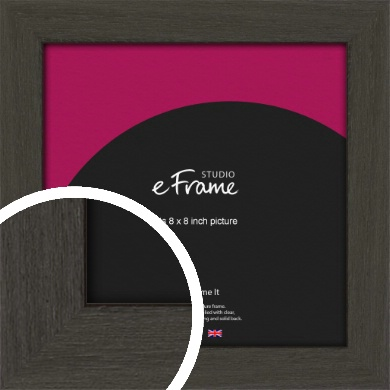 Washed Black Picture Frame, 8x8