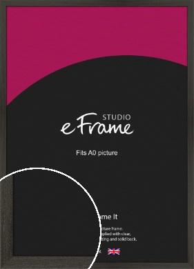 Washed Black Picture Frame, A0 (841x1189mm) (VRMP-412-A0)