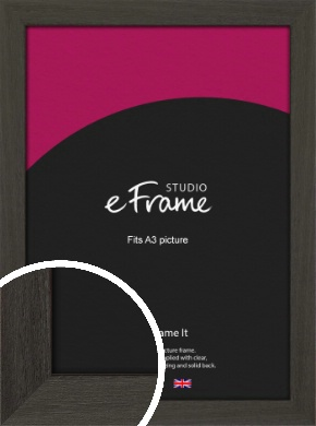 Washed Black Picture Frame, A3 (297x420mm) (VRMP-412-A3)