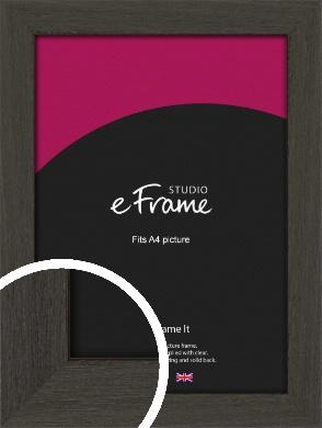 Washed Black Picture Frame, A4 (210x297mm) (VRMP-412-A4)