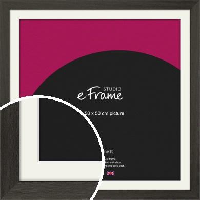 Washed Black Picture Frame & Mount, 50x50cm (VRMP-412-M-50x50cm)
