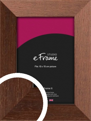 Wide Chestnut Brown Picture Frame, 10x15cm (4x6