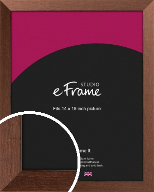Wide Chestnut Brown Picture Frame, 14x18