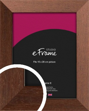 Wide Chestnut Brown Picture Frame, 15x20cm (6x8