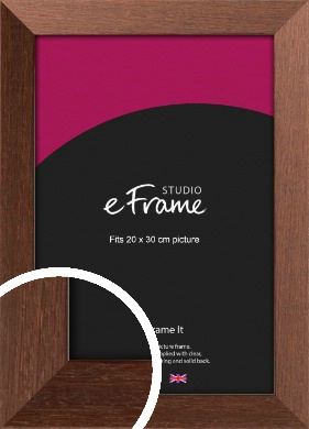 Wide Chestnut Brown Picture Frame, 20x30cm (8x12