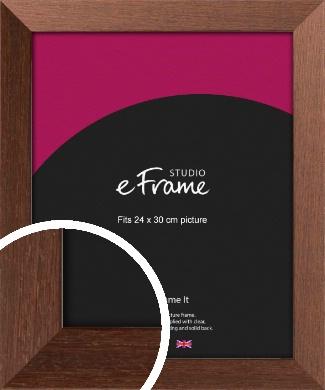Wide Chestnut Brown Picture Frame, 24x30cm (VRMP-593-24x30cm)