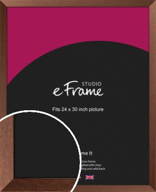 Wide Chestnut Brown Picture Frame, 24x30