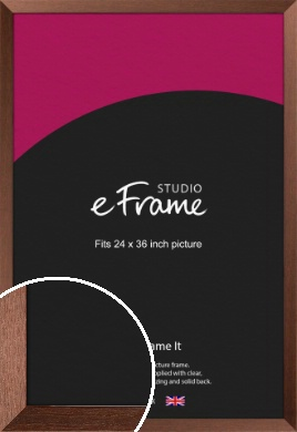 Wide Chestnut Brown Picture Frame, 24x36