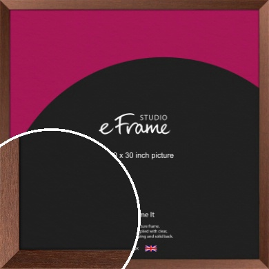 Wide Chestnut Brown Picture Frame, 30x30