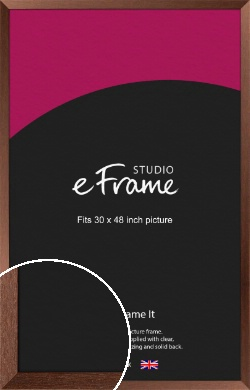 Wide Chestnut Brown Picture Frame, 30x48