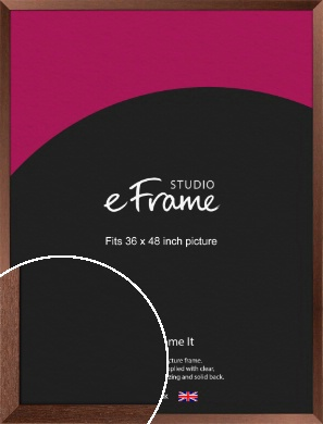 Wide Chestnut Brown Picture Frame, 36x48