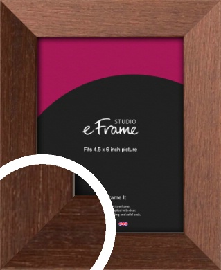 Wide Chestnut Brown Picture Frame, 4.5x6