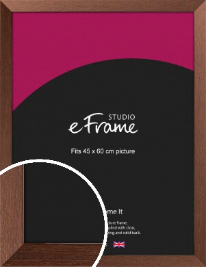 Wide Chestnut Brown Picture Frame, 45x60cm (VRMP-593-45x60cm)