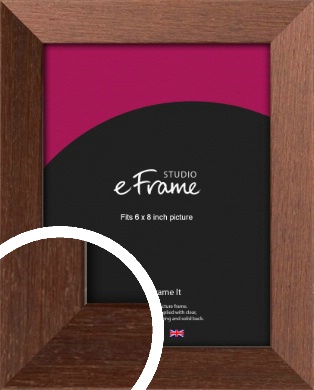 Wide Chestnut Brown Picture Frame, 6x8