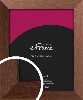 Wide Chestnut Brown Picture Frame, 8x10