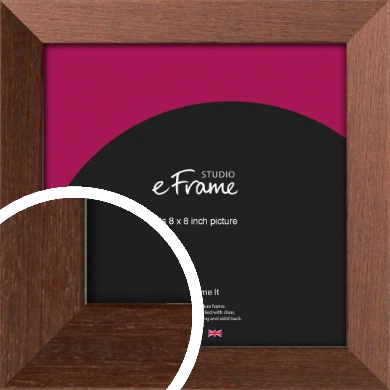 Wide Chestnut Brown Picture Frame, 8x8