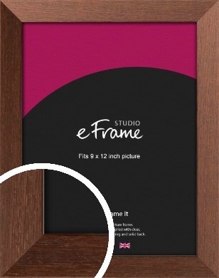 Wide Chestnut Brown Picture Frame, 9x12