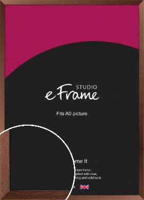 Wide Chestnut Brown Picture Frame, A0 (841x1189mm) (VRMP-593-A0)
