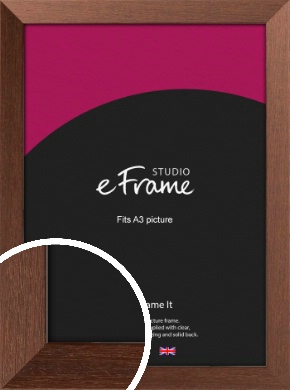 Wide Chestnut Brown Picture Frame, A3 (297x420mm) (VRMP-593-A3)