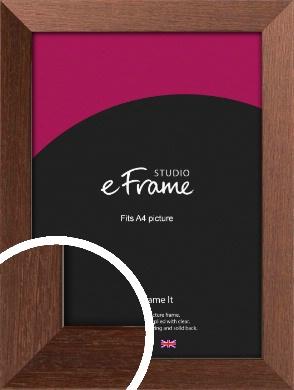 Wide Chestnut Brown Picture Frame, A4 (210x297mm) (VRMP-593-A4)