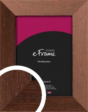 Wide Chestnut Brown Picture Frame, A6 (105x148mm) (VRMP-593-A6)