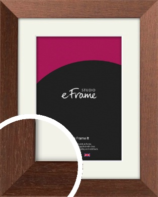 Wide Chestnut Brown Picture Frame & Mount (VRMP-593-M)