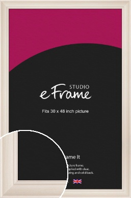 Wide Scooped Cream Picture Frame, 30x48