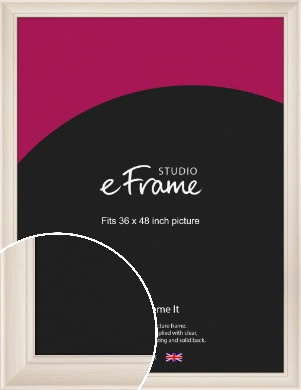 Wide Scooped Cream Picture Frame, 36x48