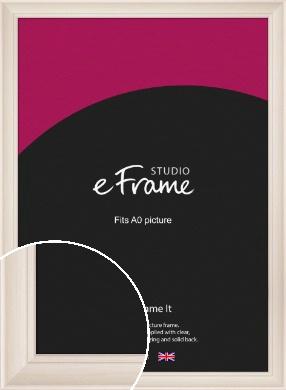 Wide Scooped Cream Picture Frame, A0 (841x1189mm) (VRMP-615-A0)