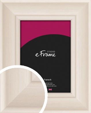 Wide Scooped Cream Picture Frame (VRMP-615)