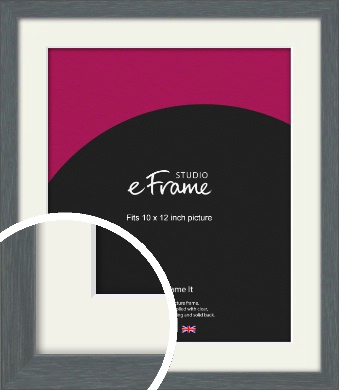 Open Grain Mid Grey Picture Frame & Mount, 10x12