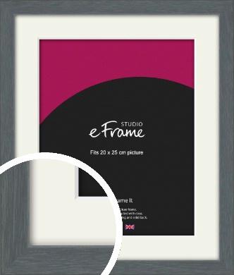 Open Grain Mid Grey Picture Frame & Mount, 20x25cm (8x10