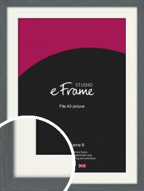 Open Grain Mid Grey Picture Frame & Mount, A3 (297x420mm) (VRMP-1030-M-A3)