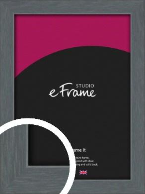 Open Grain Mid Grey Picture Frame (VRMP-1030)