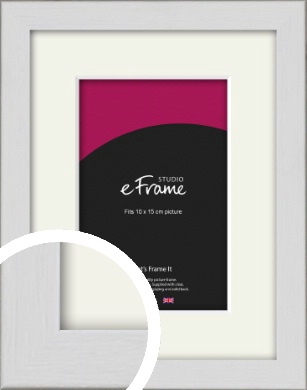 Minimalist Candlewick White Picture Frame & Mount, 10x15cm (4x6