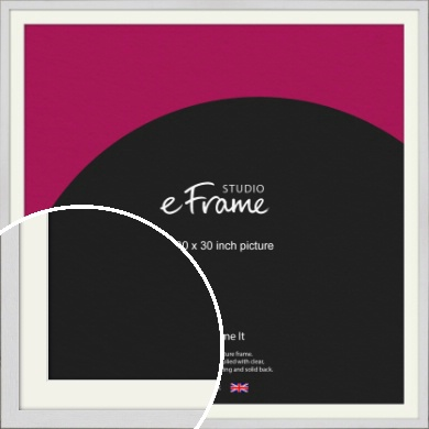 Minimalist Candlewick White Picture Frame & Mount, 30x30